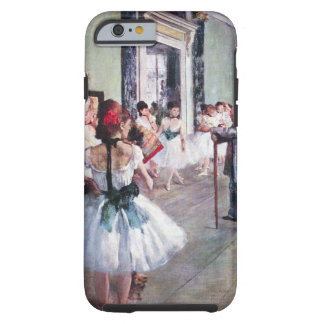 The Dance Class by Edgar Degas, Vintage Ballet Art Tough iPhone 6 Case