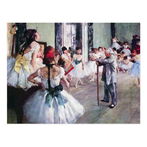 The Dance Class by Edgar Degas, Vintage Ballet Post Card