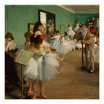 The Dance Class   Edgar Degas Poster