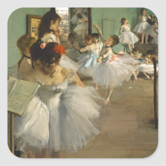 The Dance Class - Edgar Degas Square Sticker