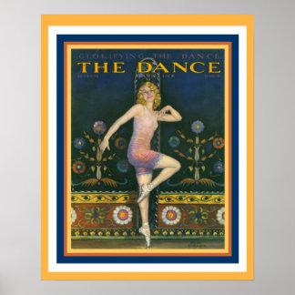 The Dance Magazine 1920's Art Deco Poster 16 x 20