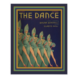 The Dance magazine Cover- Art Deco Poster 16 x 20
