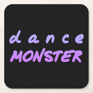 The Dance Monster Square Paper Coaster