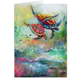 the Dance of the Sea Turtles Card
