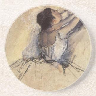 The Dancer by Edgar Degas, Vintage Ballerina Art Coasters