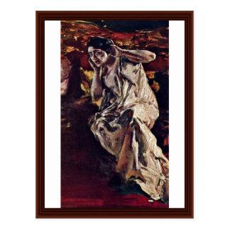 The Dancer Madeleine By Keller Albert Von Postcard