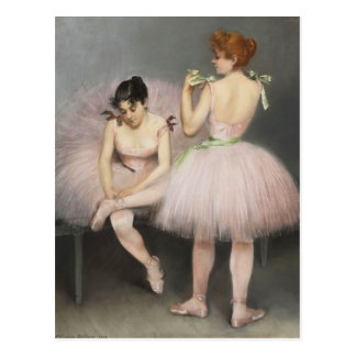 The Dancers by Pierre Carrier-Belleuse Postcard