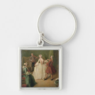 The Dancing Lesson Key Ring