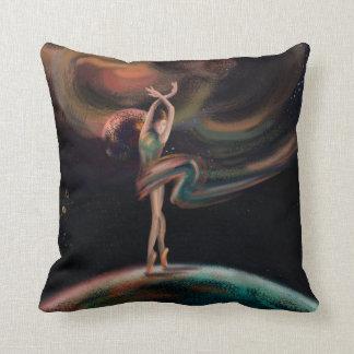 The dancing universe throw pillow