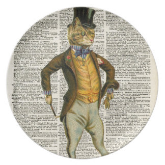 The dapper cat plate
