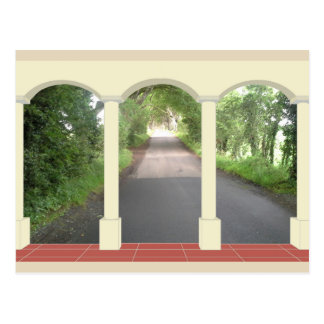 The Dark Hedges through Archway Postcard