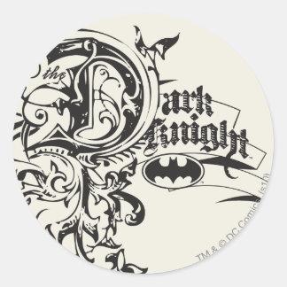 The Dark Knight Ornate Round Sticker