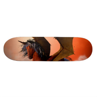The dark unicorn skate deck
