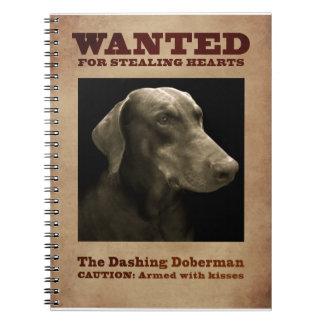 The Dashing Doberman Notebook