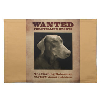 The Dashing Doberman Place Mat