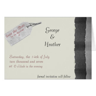 the date is on the tag greeting card