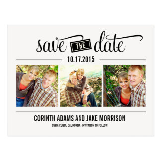 """THE"" Date - Save The Date Card Postcard"