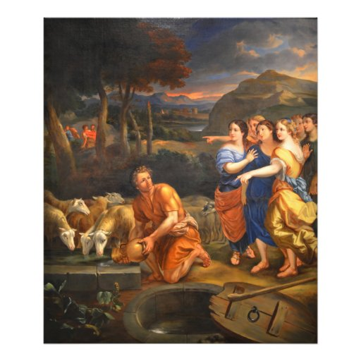 The Daughters of Jethro by Theophile Hamel 1838 Art Photo