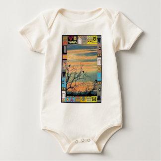 The dawn chorus - African Art Baby Bodysuit