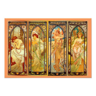 THE DAY by Alfons MUCHA Art Photo