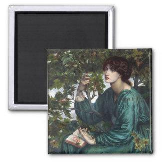 The Day Dream by Dante Gabriel Rossetti Square Magnet
