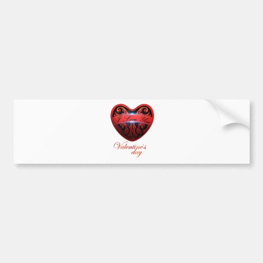 The day of San Valentin Bumper Stickers