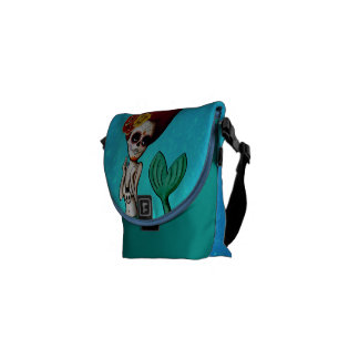 The Day of The Dead Beautiful Mermaid Courier Bag