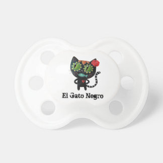 The Day of The Dead Black Cat Baby Pacifiers