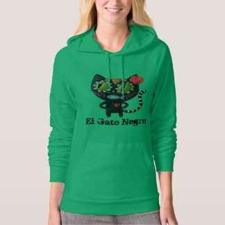 The Day of The Dead Black Cat Hooded Pullover