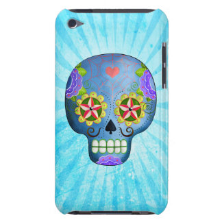 The Day of The Dead Blue Sugar Skull iPod Touch Cases