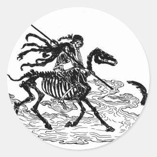 """The Day of the Dead"" circa 1901 Round Sticker"