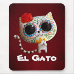 The Day of The Dead Cute Cat Mousepads