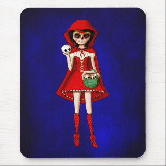 The Day of The Dead Red Riding Hood Mouse Pad