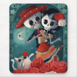 The Day of The Dead Skeleton Lovers Mousepads