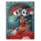 The Day of The Dead Skeleton Lovers Notebook