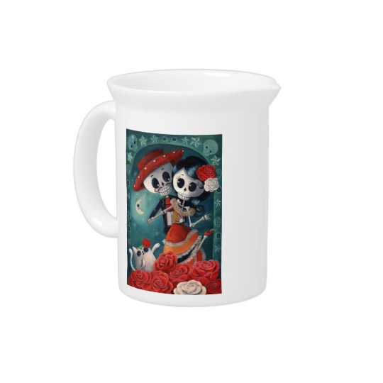 The Day of The Dead Skeleton Lovers Pitcher