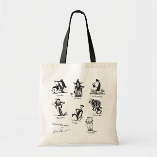 The day of the week budget tote bag