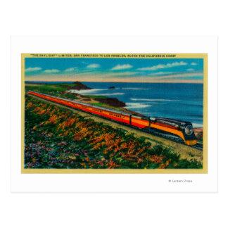 The Daylight Limited Train on California Postcard
