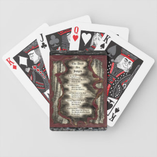 The Dead Are Judged Poker Deck