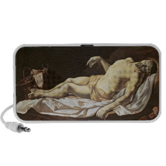 The Dead Christ (oil on canvas) 2 Laptop Speakers