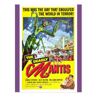 THE DEADLY MANTIS Poster Postcard