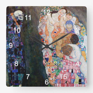 'The death and raw' wall-mounted clock of Klimt, N
