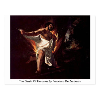 The Death Of Hercules By Francisco De Zurbaran Postcard