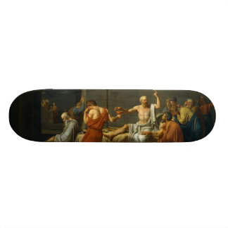The Death of Socrates by Jacques-Louis David 1787 20.6 Cm Skateboard Deck