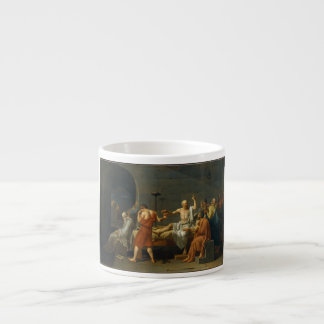 The Death of Socrates by Jacques-Louis David 1787 Espresso Mug