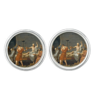 The Death of Socrates by Jacques-Louis David Cufflinks