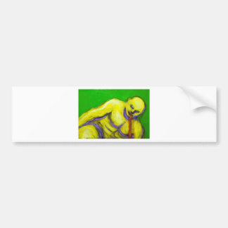 The Death of Socrates (expressionism portrait) Bumper Sticker