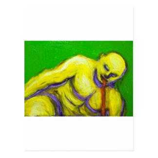 The Death of Socrates (expressionism portrait) Postcard