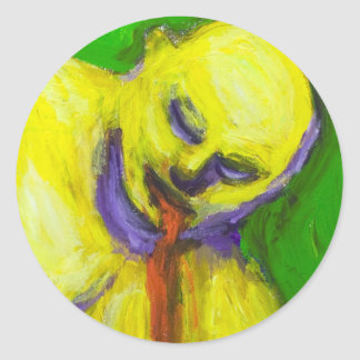 The Death of Socrates expressionism portrait Sticker