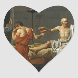The Death of Socrates Heart Sticker
